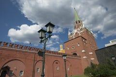 La tour de trinité et les murs du Kremlin, Moscou Russie photo libre de droits