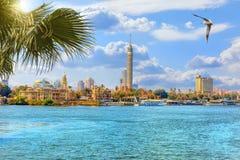 La tour du Caire, belle vue du Nil, Egypte photo stock