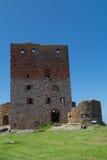 La tour du château de Hammershus Images libres de droits