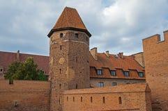 La tour du château de Malbork Photographie stock libre de droits