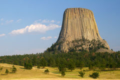 La tour du diable, Wyoming Images libres de droits