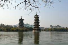 La tour du lac Photo libre de droits