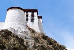 La tour du Palais du Potala à Lhasa, Thibet Images libres de droits
