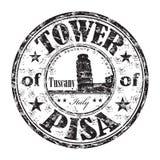 La tour du tampon en caoutchouc de Pise illustration stock