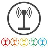 La tour du Wi-Fi Icône d'émetteur Icône d'antenne illustration de vecteur