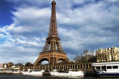 La Tour Eiffel (The Eiffel Tower) Royalty Free Stock Photo