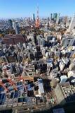 la tour en acier de Tokyo d'élévation résidentielle moderne élevée en verre concrète du Japon de constructions de construction d' photos stock
