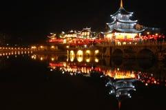 La tour en bois chinoise Photo libre de droits
