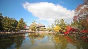 La tour en bois du temple d'À-JI en Nara Japan clips vidéos