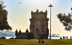 La tour historique de Belem images libres de droits