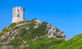 La tour Parata. Ancient Genoese tower, Corsica. La tour Parata. Ancient Genoese tower on Sanguinaires peninsula near Ajaccio, Corsica, France Royalty Free Stock Photo