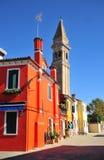 La tour penchée de Burano Photographie stock
