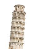 La tour penchée de Pise a isolé sur le blanc photos stock