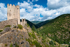 La Tour Regine and Cabaret towers on mountains landscape at Last Royalty Free Stock Photo