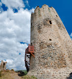 La Tour Regine tower at Lastours Royalty Free Stock Photos