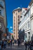 La tour ronde de Rundetaarn à Copenhague Images stock