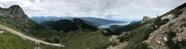 From La Tournette Mountain stock photography