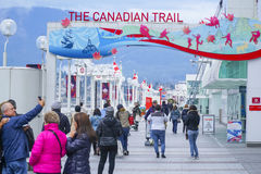 La traînée canadienne à l'endroit de Canada à Vancouver - à VANCOUVER - CANADA - 12 avril 2017 photographie stock libre de droits