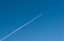 La traccia dell'aereo Fotografia Stock
