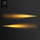 La traccia della luce di scintillio scintilla effetto della luce illustrazione vettoriale