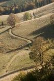 La traccia della montagna in autunno fotografia stock libera da diritti