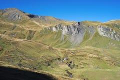 La traccia di escursione famosa da in primo luogo a Grindelwald (alpi di Bernese, Svizzera) Immagine Stock Libera da Diritti