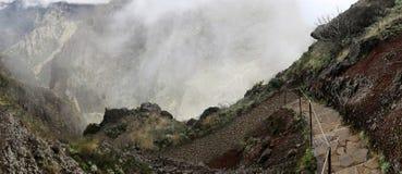 La traccia di escursione vicino a Pico fa Gato, Madera Immagine Stock
