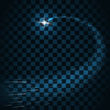 La traccia di scoppi della stella scintilla fondo trasparente Immagine Stock Libera da Diritti
