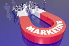 La traction d'aimant de vente attirent de nouveaux clients illustration de vecteur
