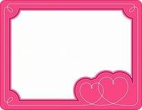 La trame de Valentine Photo libre de droits