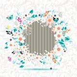 La trame florale, insèrent votre photo ici Photographie stock libre de droits