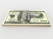 La trampa del ratón a partir de 100 dólares Bill Bundle, rinde en blanco libre illustration