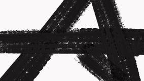 La transición abstracta de la brocha revela con Alpha Channel - transparencia almacen de video