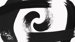 La transición abstracta de la brocha revela con el canal alfa - transparencia ilustración del vector