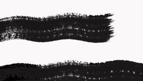 La transición abstracta de la brocha revela con textura Alpha Channel - transparencia metrajes