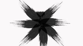 La transición abstracta de la brocha revela con textura Alpha Channel Transparency almacen de metraje de vídeo