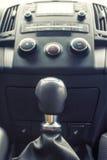 La transmisión manual de la palanca de engranaje Fotografía de archivo libre de regalías