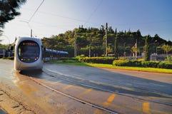 La tranvía de Atenas Foto de archivo libre de regalías
