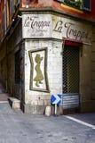 La Trappa-Stange in Nizza, Frankreich Stockfotos