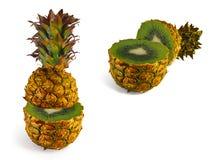 La trasformazione dell'ananas in kiwi Immagine Stock