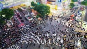la travesía de time lapse de 4K UHD Shibuya es uno de los pasos de peatones más ocupados del mundo almacen de video