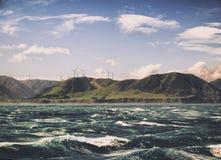 La travesía del estrecho Nueva Zelanda del cocinero Imagenes de archivo