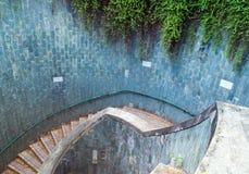 La travesía subterráneo en el parque de enlatado del fuerte Imagen de archivo
