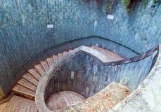La travesía subterráneo en el parque de enlatado del fuerte Foto de archivo