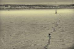 La trayectoria al faro Imagen de archivo