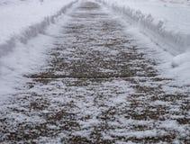 La trayectoria del invierno foto de archivo libre de regalías