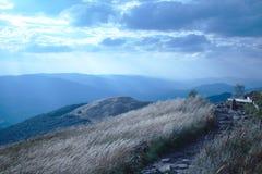 La trayectoria en las montañas Imagen de archivo
