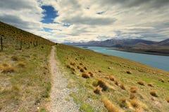 La trayectoria que vagabundeaba proporcionó la oportunidad para que los visitantes disfruten de paisaje hermoso Fotografía de archivo
