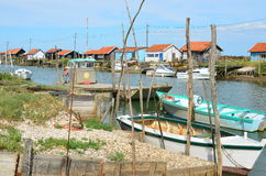 La Tremblade, ostriecole de site, Charente maritime, France photos libres de droits
