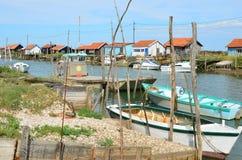 La Tremblade, ostriecole del sito, Charente-Maritime, Francia fotografie stock libere da diritti